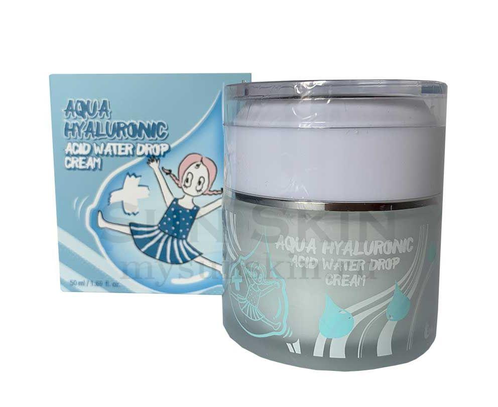 Крем для лица увлажняющий с гиалуроновой кислотой Elizavecca Aqua Hyaluronic Acid Water Drop Сream