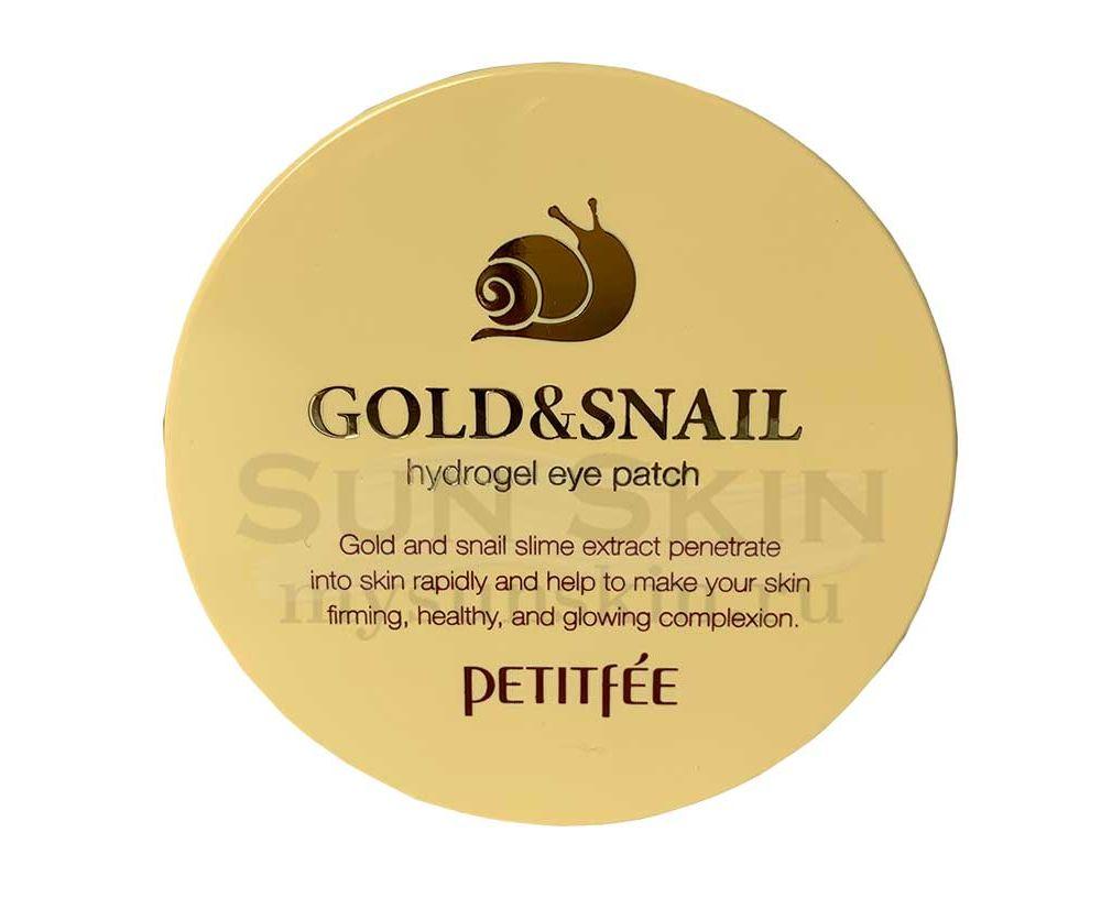Гидрогелевые патчи для глаз с золотом и улиточным муцином Petitfee Gold and Snail Hydrogel Eye Patch